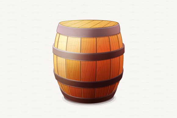 vector wooden objects. Barrel clipart transparent background