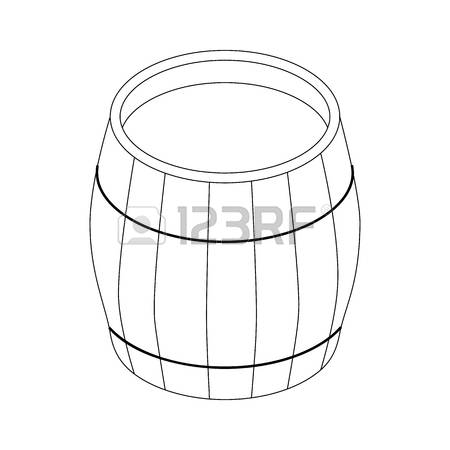 Black and white station. Barrel clipart vat