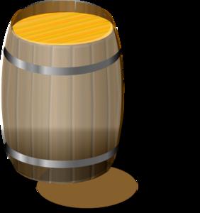 Barrel clipart vector. Water drum