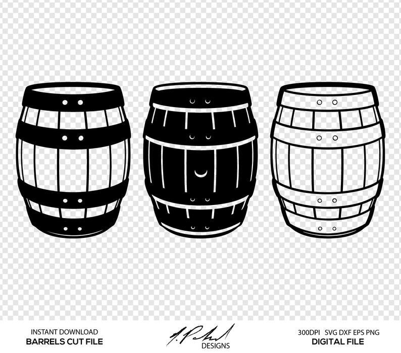 Barrel clipart vector. Barrels digital cut files
