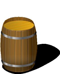 Wooden barrel clip art. B clipart wood