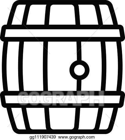 Eps illustration wood icon. Barrel clipart whiskey barrel