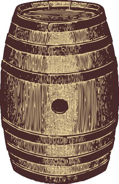 Barrel clipart whiskey barrel. Wooden clip art at