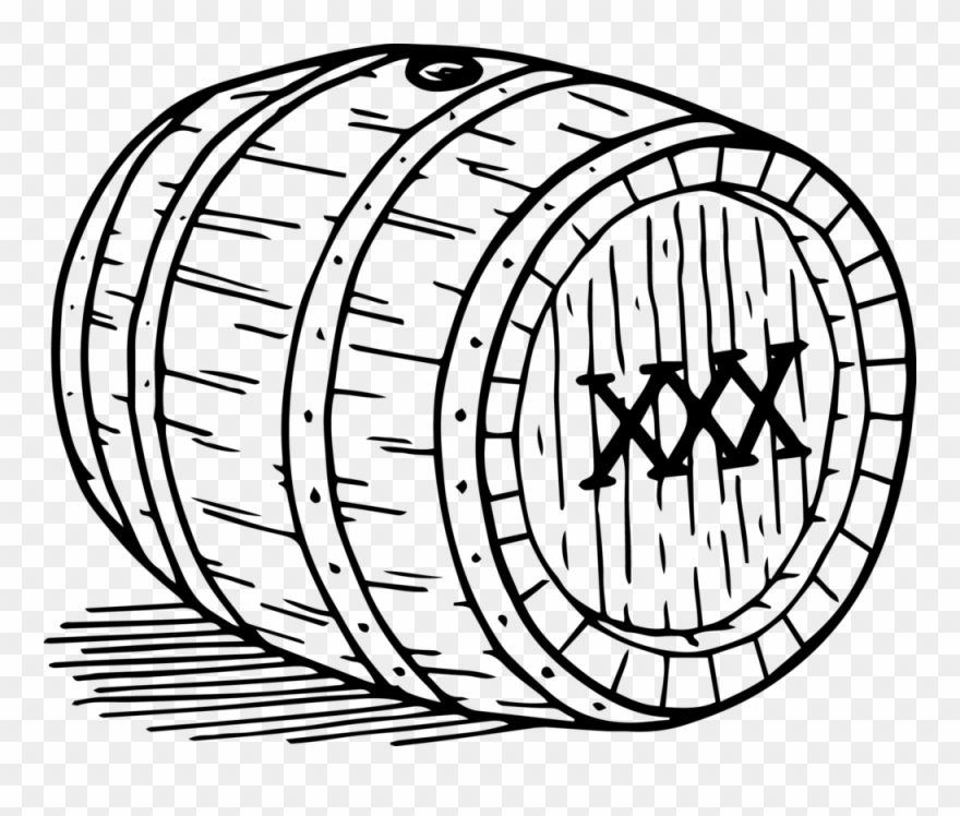 Barrel clipart whiskey barrel. Drawing black and white