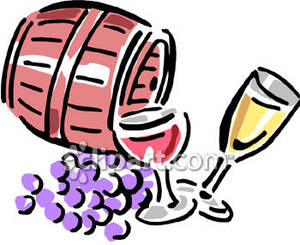 Of and glasses royalty. Barrel clipart wine barrel