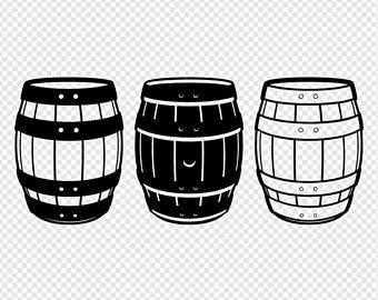 Barrel clipart wine barrel. Beer etsy barrels digital