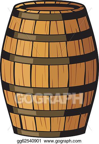 Barrel clipart wooden barrel. Vector art old drawing