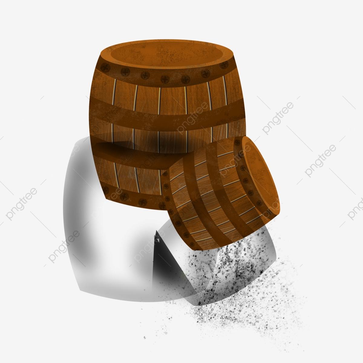 Two design graphics . Barrel clipart wooden barrel