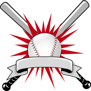 Baseball clipart. Image sports logo with
