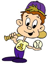 Free kid ready to. Boys clipart baseball