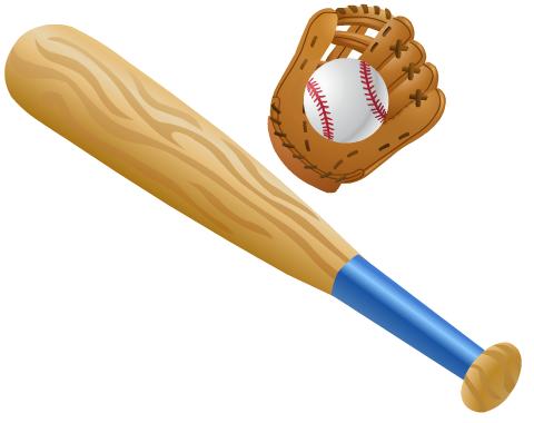 Baseball clipart baseball bat. Free softball and clip