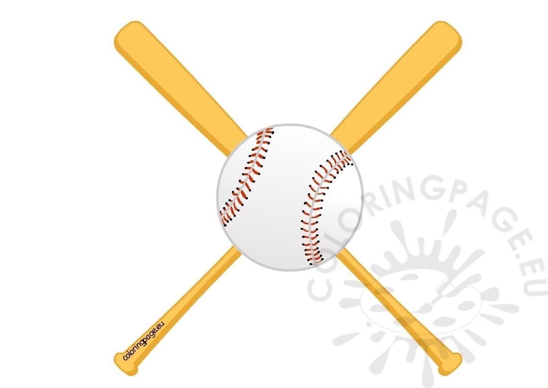 Baseball clipart baseball bat. Twins coloring page