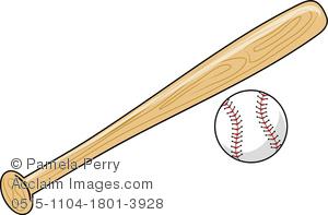 Baseball clipart baseball bat. Clip art image of