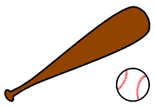 Free . Baseball clipart baseball bat