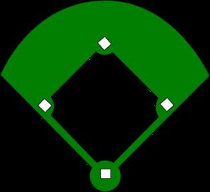 baseball clipart baseball diamond