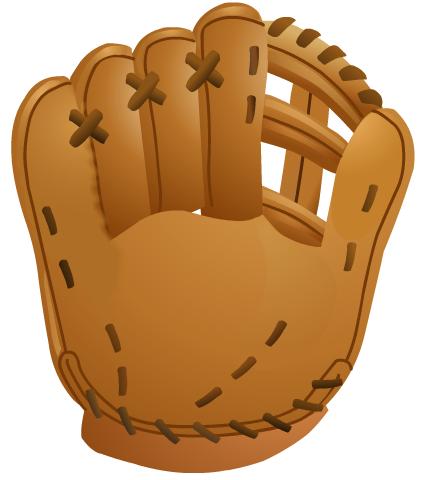 Glove clipart baseball. Free softball and clip