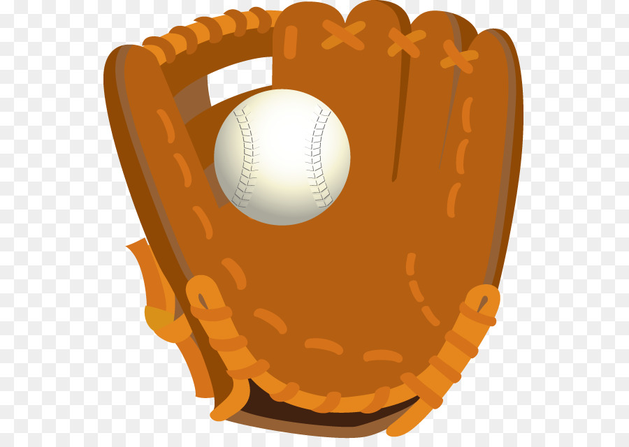 Sports orange . Glove clipart baseball