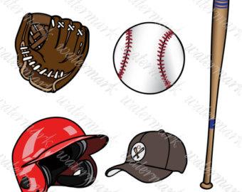 Letters clip art numbers. Baseball clipart baseball gear