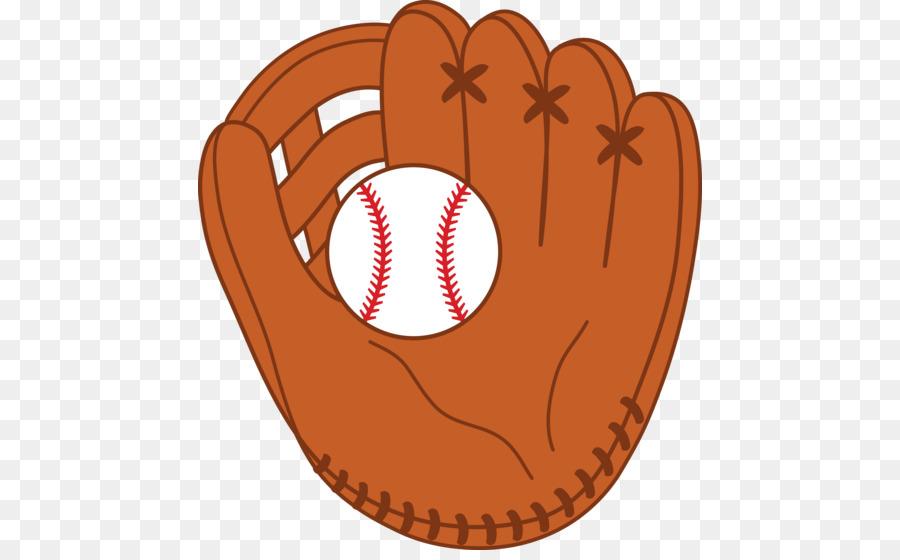 Softball ball . Glove clipart baseball