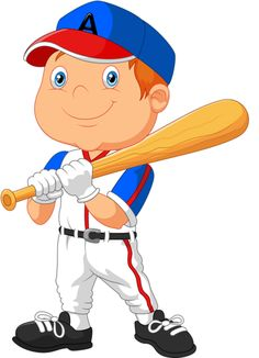A female player preparing. Boys clipart baseball