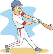 Baseball clipart baseball player. At bat hitting panda