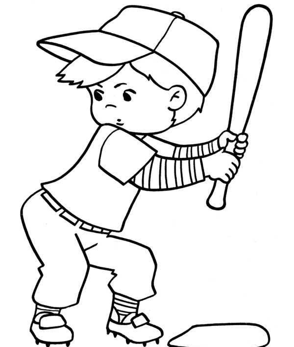 Baseball clipart baseball player. Child black and white