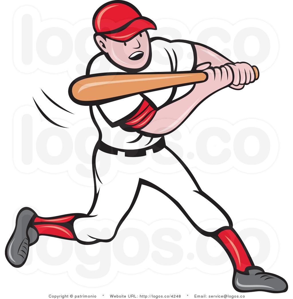 . Baseball clipart baseball player