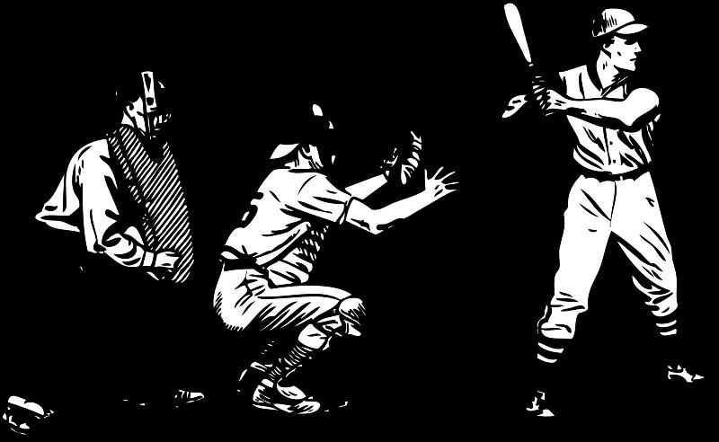 Baseball at bat medium. Game clipart team game