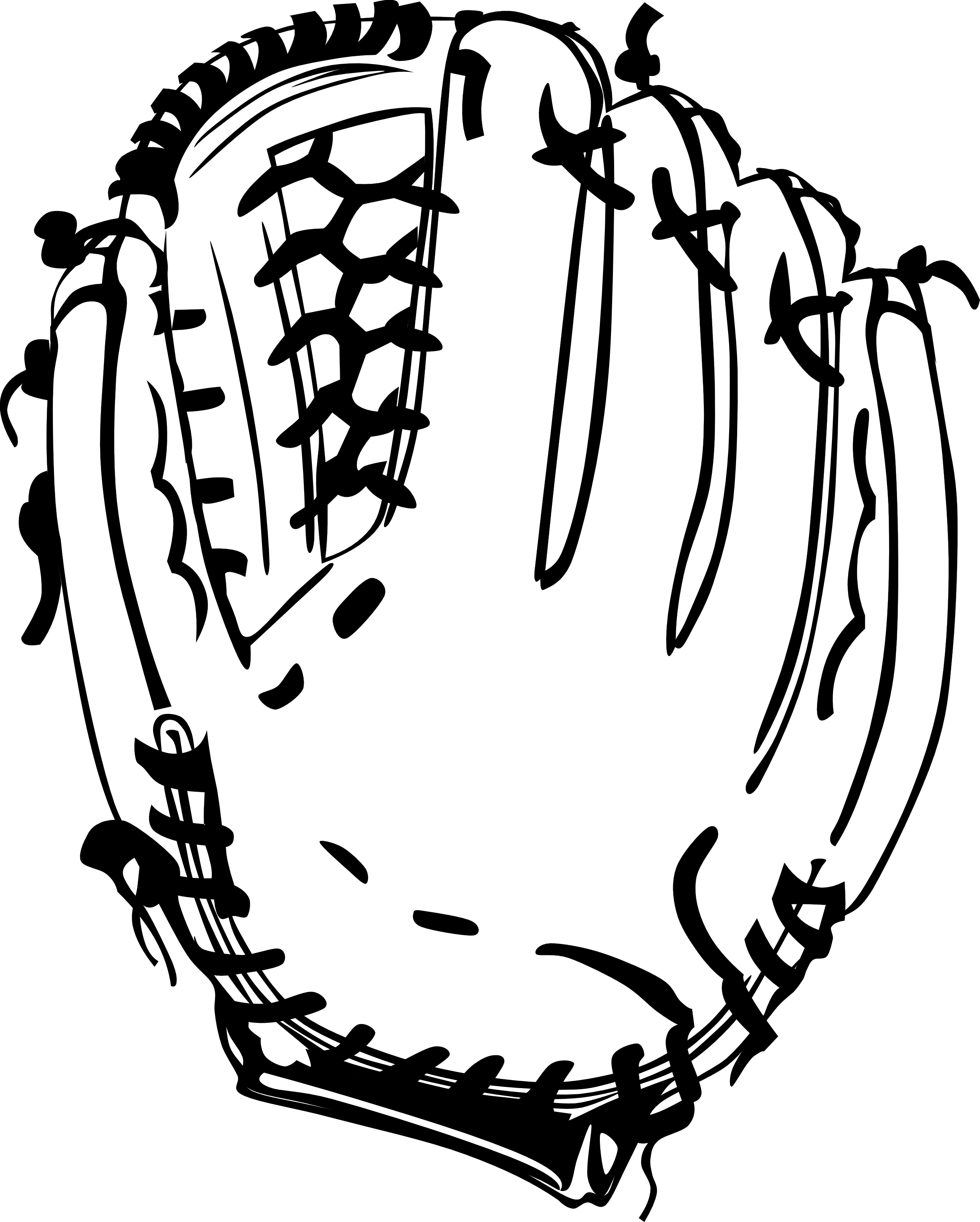 Baseball glove black white. Mittens clipart mitt