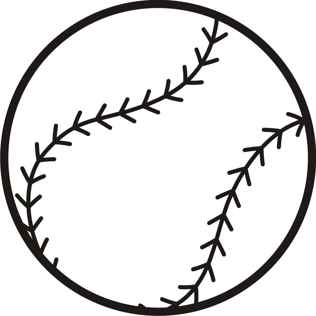 Free graphics image . Black clipart baseball