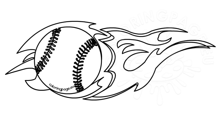 Black clipart baseball. Flaming and white coloring