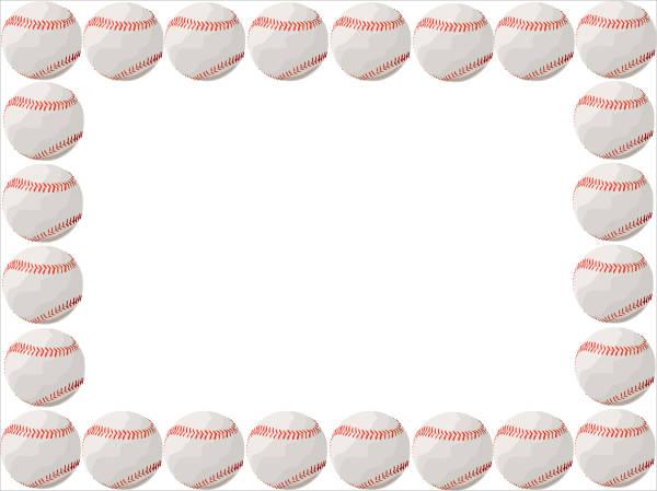 Baseball clipart boarder.  cliparts free vector
