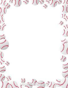 Free printable clip art. Baseball clipart boarder