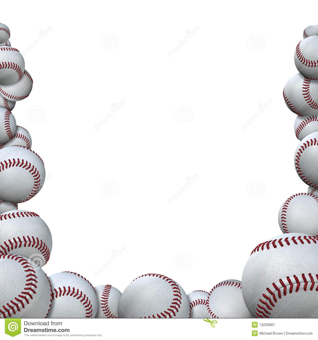 Baseball clipart border.  clipartlook