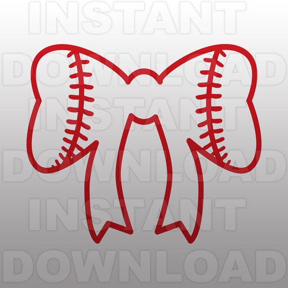 Bows clipart softball. Bow svg filesoftball svgcutting
