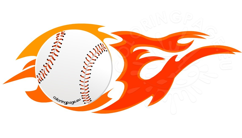 baseball clipart flame