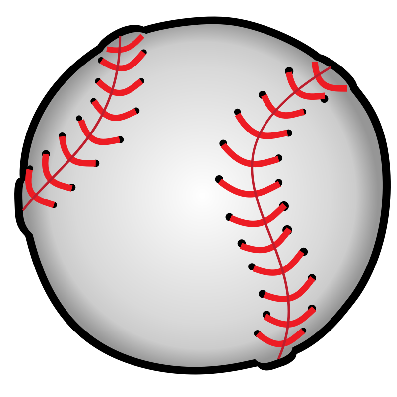girly clipart baseball