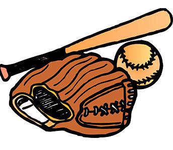 Glove bat and ball. Baseball clipart high school baseball