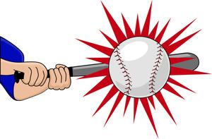 Baseball clipart home run. Batting image batter hitting