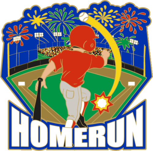 Baseball clipart home run.  homerun pin dph