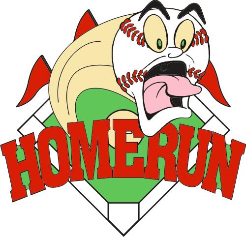 screaming homerun pin. Baseball clipart home run