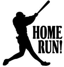 Club suffern little league. Baseball clipart home run