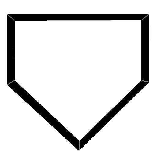 Home plate . Baseball clipart homeplate