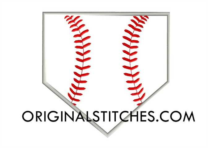 Baseball clipart homeplate. Stitched home plate machine