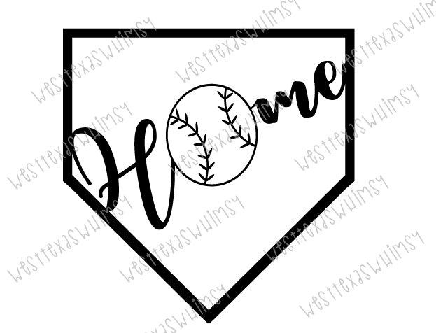 Softball home plate incep. Baseball clipart homeplate