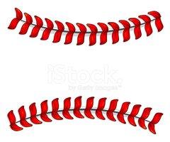 Baseball clipart lace. Laces stock vectors me