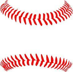 Baseball clipart lace. Stitches pattern svg file