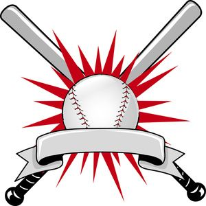 Baseball clipart logo. Image sports with two