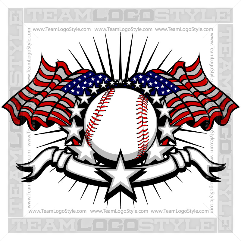 July th vector of. Baseball clipart logo
