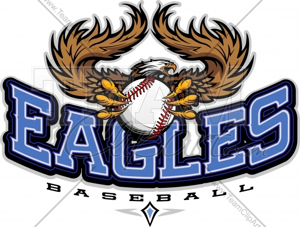 Eagles vector image sports. Baseball clipart logo
